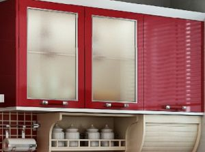 Glass Upper Kitchen Cabinet pictures & photos