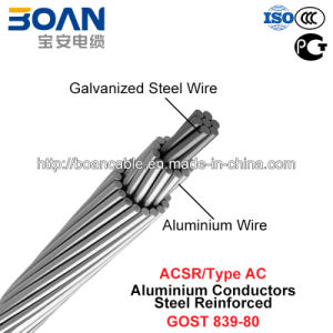 ACSR, Type AC, Aluminium Conductors Steel Reinforced (GOST 839-80) pictures & photos