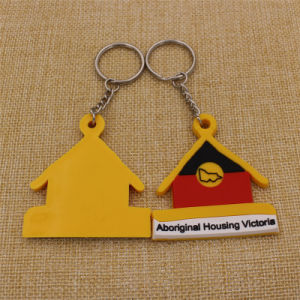 Factory Supply 10% Discount Promotion 2D Rubber Soft PVC Keychain pictures & photos