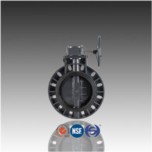 DIN ASTM JIS Geared PVC Butterfly Valve for Water Supply pictures & photos