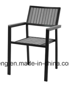 Competive Price Top Selling Outdoor Garden Aluminum+PS-Wooden Furniture Dining Set by Chair&Table (YT386) pictures & photos