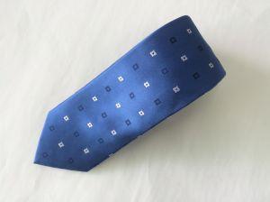 New Fashionable Blue Colour Flower Design Woven Silk Neckties pictures & photos
