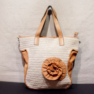 Original Hand-Woven Cotton and Line Bag Flower Lady Handbag