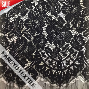 Beautiful Flower Cotton Nylon Bridal Lace Fabric