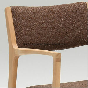 (SD-1001A) Nordic Style Hotel Restaurant Wood Frame Fabric Armchair pictures & photos