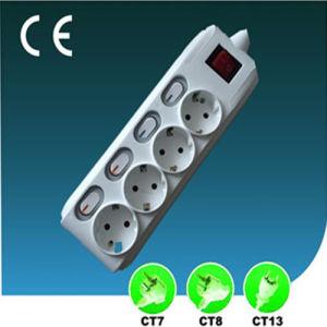 Four Ways 16A European Extension Socket