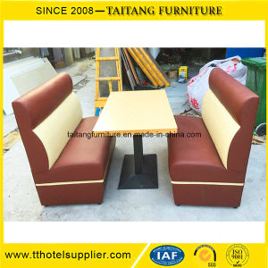 Hot Sale Wooden with Leather Restaurant Booth pictures & photos