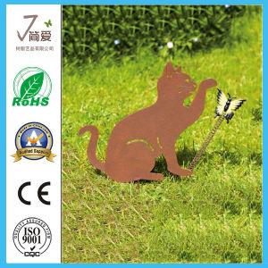Handmade Animal Cat Metal for Garden Decoration pictures & photos