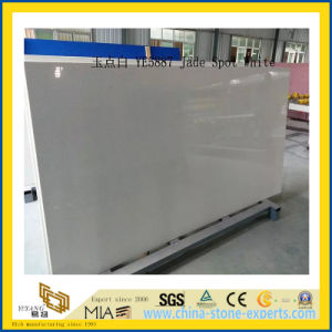 Polished Jade Spot White Artificial Quartz Slabs for Countertops (YQC) pictures & photos