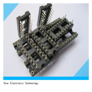 PCB Board 18 Pin 2.54mm Pitch IC Socket Adapter Round Pin Header with Black Color pictures & photos