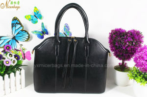 Wholesale Elegant Black PU Hand Bag for Ladies pictures & photos