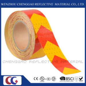 Yellow and Red Arrow Signs Reflective Warning Tape for Vehicle (CG3500-AW) pictures & photos