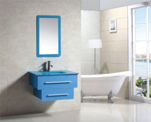 Blue on Wall Modern Fashion Bathroom Mirrored Cabinet (9036-7)