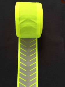 Fluorescent Yellow Webbing Reflective Strip pictures & photos