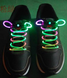 Custom Funky Glow in The Dark Polyester Round Shoelaces pictures & photos