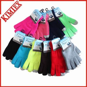 Wholesale Cheap Acrylic Magic Knitted Touch Screen glove pictures & photos
