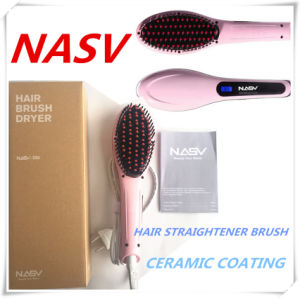 2016 Lately Items Hot LCD Brush Welcome OEM 75W Magical Nasv Hair Straightener Brush pictures & photos