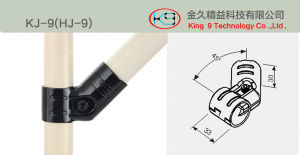 Black Coated Metal Joint for ABS/PE Lean Pipe pictures & photos
