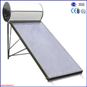 Rooftop Flat Plate Solar Hot Water Heater for Home pictures & photos