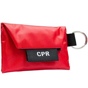 CPR Mask Keychain Including Mask and Glove, CPR Life Key Chain