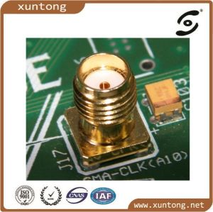 "WiFi Modem SMA Plug Male Connector End Launch PCB Edg Mount RF Connector 50 Ohm 0.062"" PCB pictures & photos"