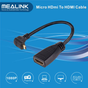 High Speed 90 Angle Mirco HDMI to HDMI Cable pictures & photos