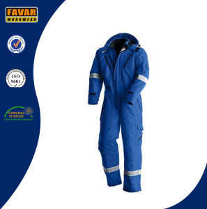 Flame Resistant Cotton Reflective Safety Overalls Oil Field Protect Winter Coverall for Oil Gas Industry pictures & photos