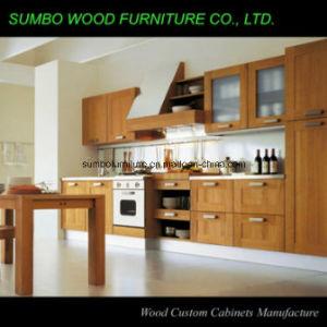 Modern Style Solid Wood Kitchen Cabinet (SBK-027)