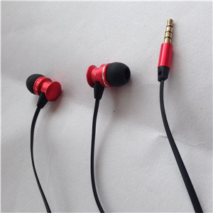 High Quality Popular Falt Cable Metal Earphones for Phone pictures & photos