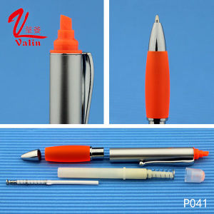 High Quality Highlighter Pen Customized Logo Plastic Pen on Sell pictures & photos