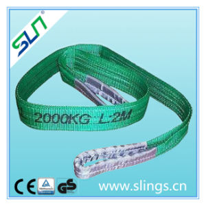 2t*5m Polyester Double Eye Webbing Sling Safety Factor 6: 1 pictures & photos