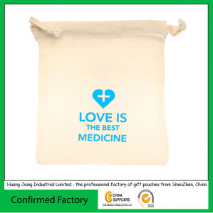 High-Quality Cotton Fabric Drawstring Gift Packaging Bags pictures & photos