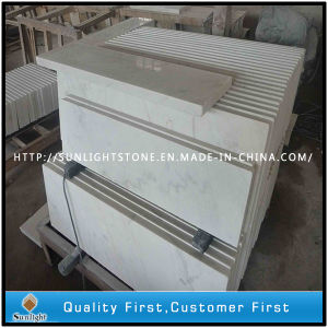 China Cheap Guangxi White Marble Stone Tiles Flooring for Stair pictures & photos