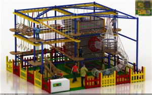 2016 Popular Attractive Kid′s High Rope Course Indoor Adventure Playground Equipment pictures & photos