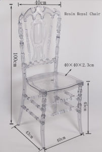 China Lucite Transparent Plastic Resin Royal Chair pictures & photos
