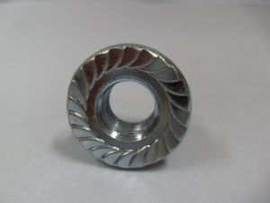Blue Zinc Plated Hex Nuts with Flange M14