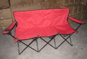3 Seats Folding Beach Chair with Armrest (MW11032) pictures & photos