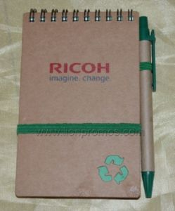 Ricoh Logo Eco Friendly Recycled Kfraft Paper Pocket Coil Notebook pictures & photos