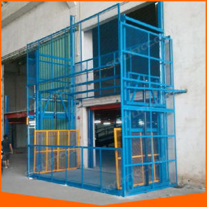 Hydraulic Roller Guide Rail Vertical Lift Conveyor Lift Height pictures & photos