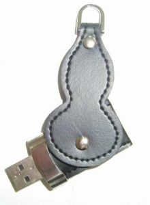 Gourd USB Driver Leather Swivel USB Flash Drive pictures & photos