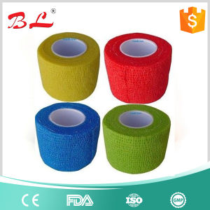 Various Colors Easy Hand Tear Non Woven Medical Cohesive Bandage pictures & photos