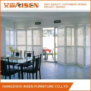 2017 Waterbase Painted PVC Bifold Plantation Window Shutter Made in China pictures & photos