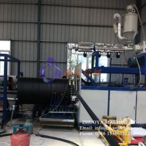 HDPE Hollow Wall Twined Spiral Pipe Production Line/ Coiled Pipe Extruder Machine pictures & photos