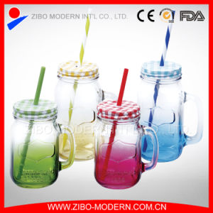 2016 Colorful 16oz /24oz Wholesale Glass Mason Jar pictures & photos