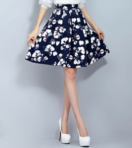 Hot Sale Summer A-Line Women′s Printing Skirt with Good Price pictures & photos