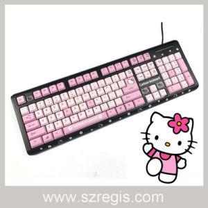 Cute Toner Black Hellokitty Doraemon Wired Multimedia Keyboard pictures & photos