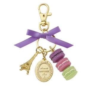 Real Gold Plated Eiffel Tower Macaron Keychain (YS-2488)