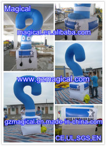 Blue Color Inflatable Question Mark Model with Lampstand (mic-426) pictures & photos