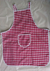 Checked Style Waterproof Advertising Logo Printed Kitchen Apron pictures & photos