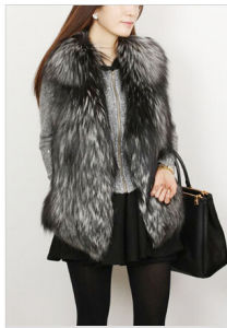 Full Skin Silver Fox Fur Vest (K014) pictures & photos